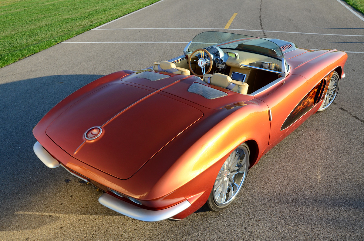 Copper Corvette Frame