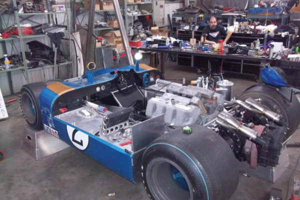 The new Open Sports Ford, with its race-ready fiberglass body and spare parts, resides in Auburn, Washington, under the care of mechanic John Anderson.