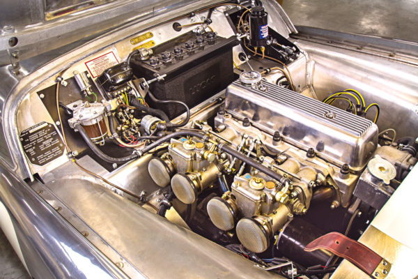 The original four-cylinder engine displaced slightly more than 1.9 liters, but this one has been enlarged to 2.2 liters.