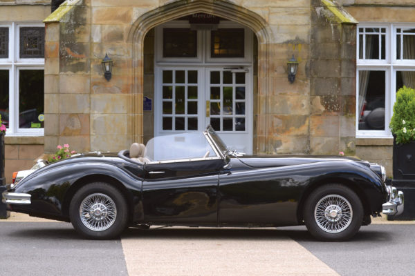 """The """"light line"""" (the curve running along the front and rear fenders) is exactly the same as the original XK120/140 and what makes the shape so special."""