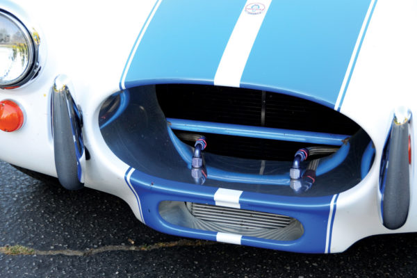 Additional bracing in the grille is nonoriginal.