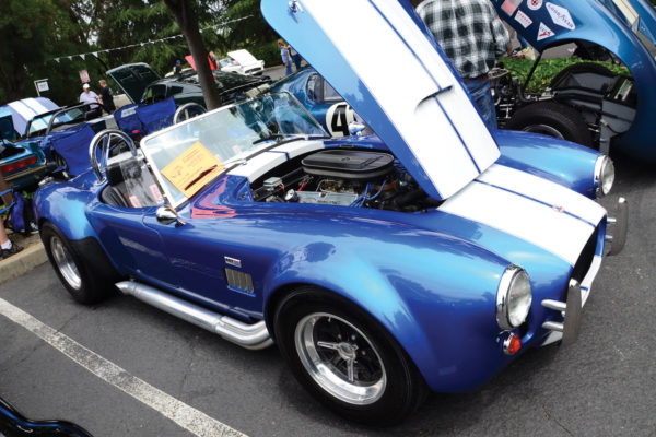"""Larry Johnston calls his Classic Roadsters Cobra a """"water snake"""" for an unfortunate encounter with a fire hydrant. But he lived to tell the tale and restored the car back to running condition."""