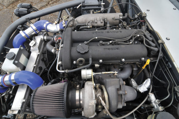 Several vendors make turbo kits that install on the stock 1.6-liter Miata engine for extra power. In this case, 251 horses, plenty of beans for a car that weighs only 1,740 lbs.