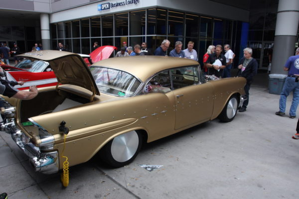 This bolt-on electric hybrid kit, shown here on a '57 Pontiac Chieftain, is offered by E-Charger. It's claimed to add up to 150 hp and deliver 60 mpg.