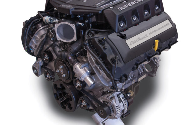 In addition to the Eaton TVS 2,300 cc/rev rotors, the Edelbrock Coyote package comes complete with 