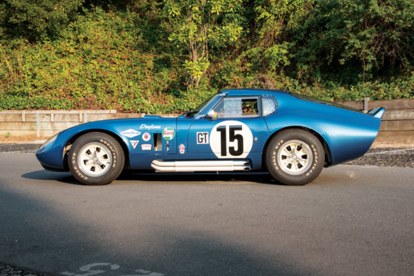 The racing livery closely follows that of the original CSX2299 Daytona Coupe.
