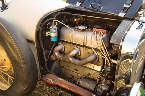 """The """"three-into-one"""" headers collect exhaust from all four cylinders."""