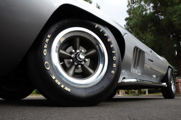 Original-spec 15-inch Firestone tires are available from Coker Tire, but now with radial tread.