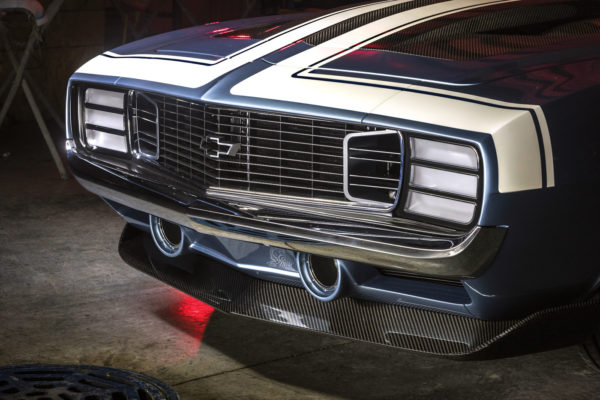Virtually every component of the G-Code Camaro was customized, including the bumpers and the grille, paired with a carbon fiber spoiler.