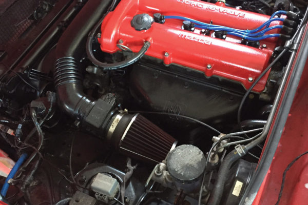 While the current engine is a 130 hp stock Miata, power adders such as a turbo or Chevy LS engine could be provided by Flyin' Miata. An electric version is in the works as well.