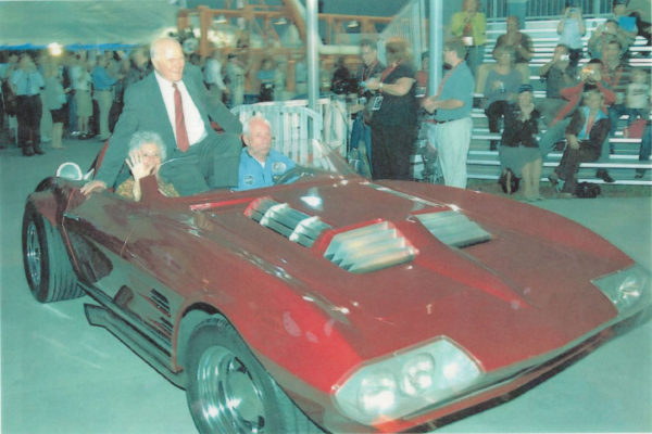 According to The Right Stuff, astronauts have always had a strong preference for Corvettes. Here, John Glenn, the first American to orbit the earth, arrives with wife Anna The Kennedy Space Center's World Space Expo on November 2, 2007 in Dennis Manire's Grand Sport replica.