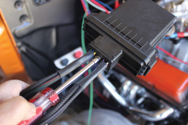 Then the wiring harness is plug and play. 