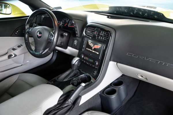 While lots of interior options were offered, the 2013 C6 Grand Sport leather package was just fine from the factory, and Bill Zei opted to keep it that way. He enjoys the push-button starting, nine-speaker Bose sound system and heads-up display.