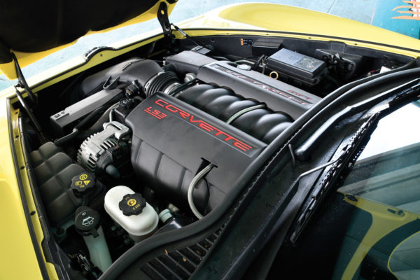 The 6.2-liter V8 produces a stout 425 hp and is coupled to a six-speed, paddle-shift automatic.