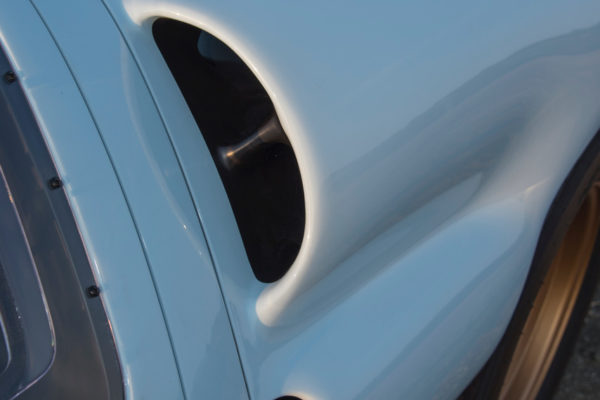 The upper air intake is one of the identifying features of the big-block MkII GT40.