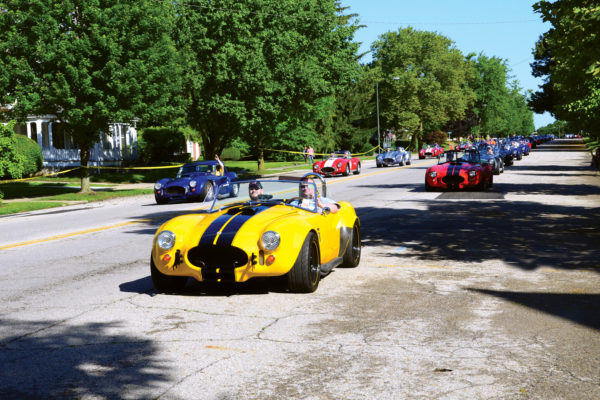 Phil White, a retired air-traffic controller, landed at London in his nitrous-fed Factory Five. No surprise his ride was one of the most popular choices for dragging down Main Street.