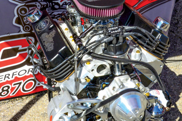 Lance Smith, owner of Craft Performance, has plenty of news to share. He has donated one of his engines for next year's raffle Cobra. It's a small-block 427 SP, a 351 stroked to 427 ci. It's good for 510 hp and 550 lb-ft, and Lance adds that he has a 700 hp 461 ci version available from same block. New heads are in the works too, along with a 650 hp 527 ci FE mill.