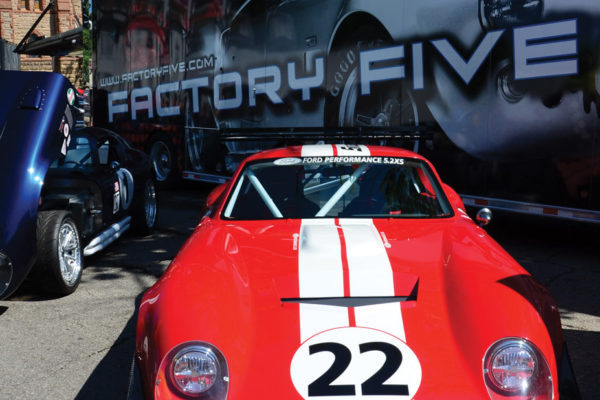 Factory Five's coupe debuted with its new chassis design, along with the Snap-On Tools' race-ready version.