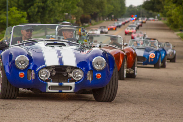A convoy of Cobras coiled and ready to strike on the streets of London, Ohio.