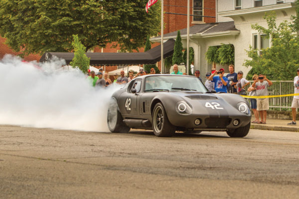 A smokin' hot Factory Five Racing Coupe with a military-theme, owned by helicopter pilot Erik Treves, came well-armed with high-caliber, twin turbos.