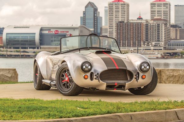 A Factory Five Racing Cobra, enhanced with modern features by FormaCars, will be raffled off at the London Cobra Show.