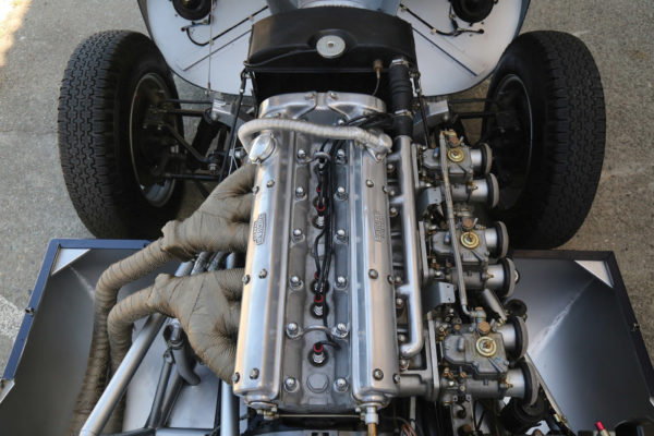 The 3.8-liter XK engine boasts nostalgic looks, right down to the voltage regulators and cloth-covered wiring harnesses.