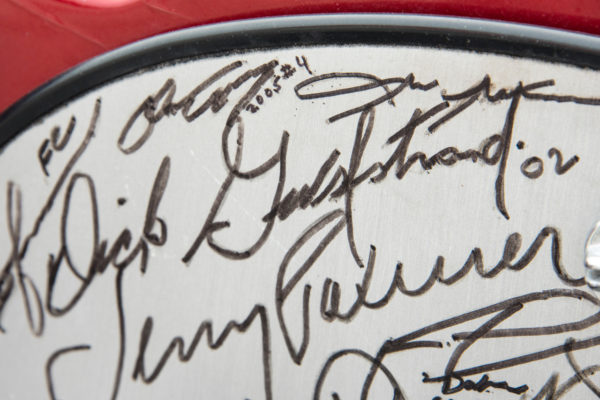 A wide array of Corvette notables and other celebs have graced the dash with their autographs, such as Dick Guldstrand and several Corvette engineers and factory drivers.