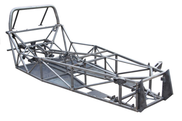 The chassis consists predominantly of 1-inch square steel tubing with a stressed steel floor in the cockpit.