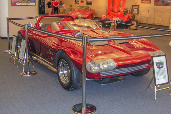 "On display at the National Corvette Museum's ""From Serene to Extreme"" event, the Manires Grand Sport fulfilled the latter category."