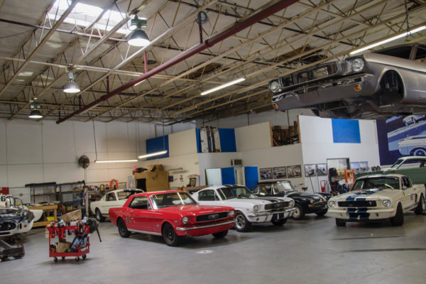 Original Venice Crew assembles the cars at the Shelby facility in Southern California, just as Carroll Shelby and the racers did in 1965.