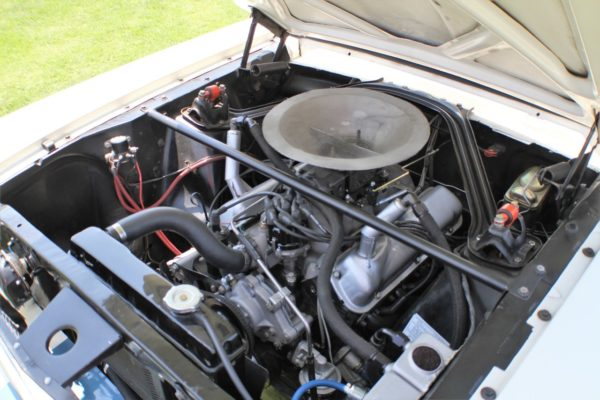 While a Hi-Po 289 is the standard engine used on the GT350 from the 1960s, the continuation cars have been fitted with 331 ci stroker motors, good for 450 hp.