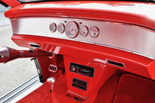 The metal trim pieces were all made by hand,