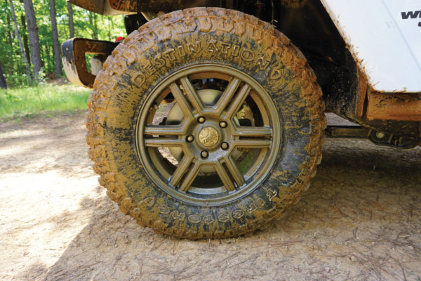 The Firestone Destination M/T2 took us through mud that I would have sworn was impassable, and these tires made it look like I knew what I was doing. Two thumbs up.