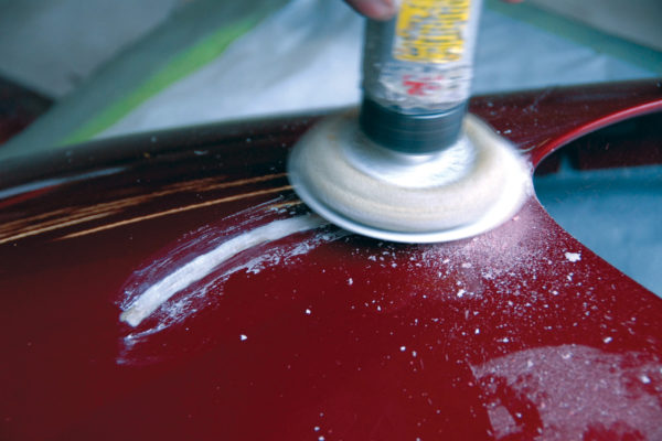 After mixture dries, sand the surface evenly until smooth, then prep for paint.