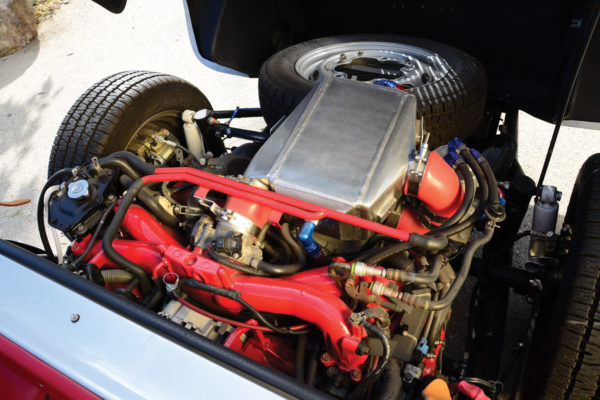 The Subaru EJ257 is a 2.5-liter turbo engine that's a good 250 horses.