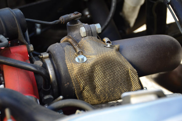 Heat shielding for the turbo proved necessary after the brake fluid reservoir melted.