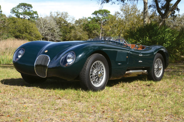 Using the XK120's running gear fitted to a lightweight tubular space frame, the original Jaguar C-type won twice at LeMans in the early 1950s. Today, Proteus recalls those glory days with a aluminum-body replica with modern mechanicals.