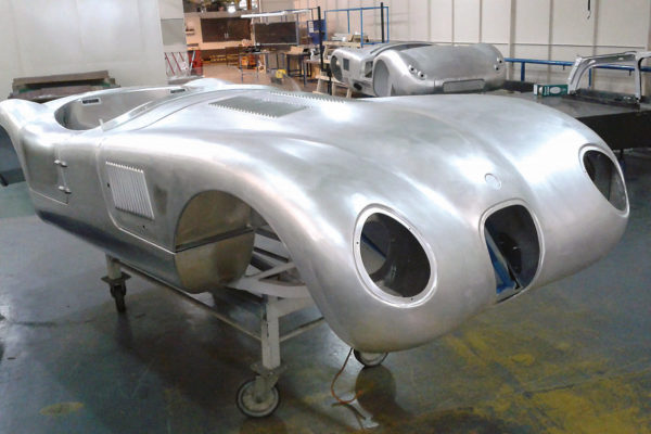 Here's how the bare aluminum of the C-Type looks right after being shaped by the Superform process. No seams are evident, in contrast to more traditional and time-consuming aluminum body-forming techniques.