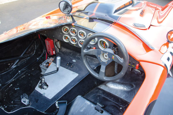 Even though the rawboned racing cockpit is right-hand drive, left-hand versions can be specified instead.