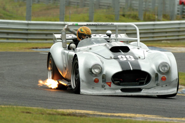 An earlier version of the racing Python lit up the track at Sandown International Raceway in 2005.