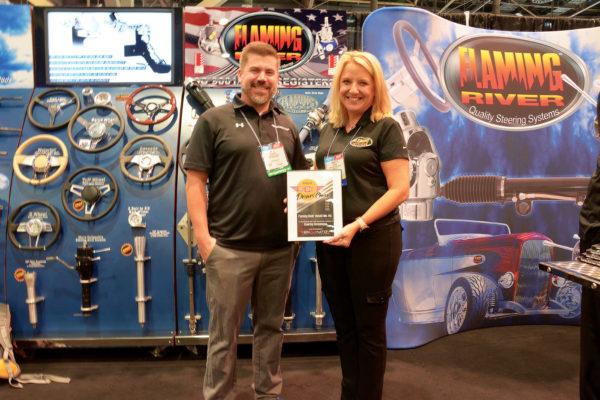 Brad Bisnette, RCN Mag & Jeannette Ladina, President Flaming River Industries