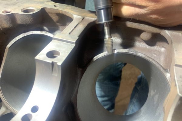 A carbide tip rotary bit works well for grinding these notches. We used a smaller bit to ensure we wouldn't take too much off too quickly.