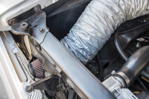 To keep debris out of the intake, John Ronda added K&N filters to the cold-air intake hoses.