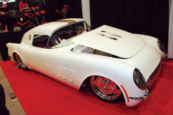 Mike Walker of Street Rods Only was clearly inspired by the '54 Corvair Corvette concept car to give this replica a fastback treatment.