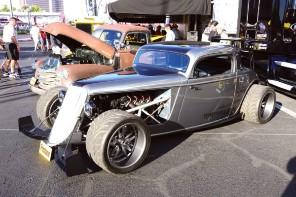 Another fine example of a '33 Ford from Factory Five, enhanced with aero treatments both front and rear.