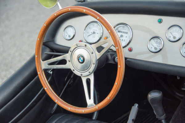 The dash is clean and uncluttered, with