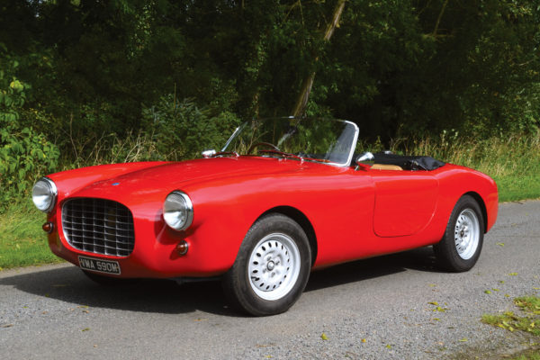 Shades of an early, lithe AC Ace and Cobra? You'd be correct, as it resembles Ferrari's 1949 barchetta, bodied by Touring.