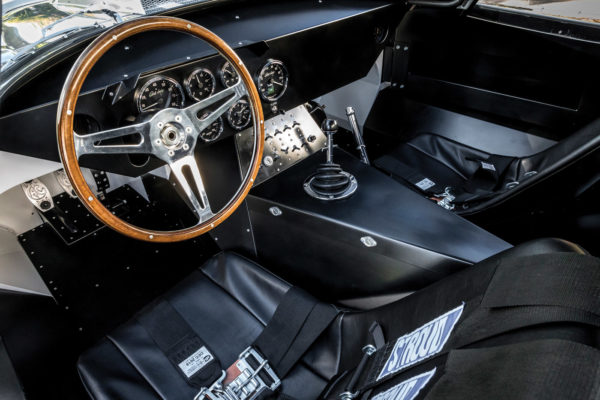 If a five-speed is requested instead of the original-spec four-speed transmission, the aluminum paneling requires some adjustment to accommodate a different shifter.
