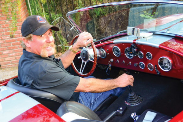 Mark Miller gets a big grin when he pushes the laughing gas button on his Cobra.