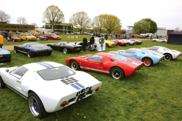 The GT40 Enthusiasts Club of the U.K. always supports Stoneleigh with a mouthwatering assortment of quality replicas.